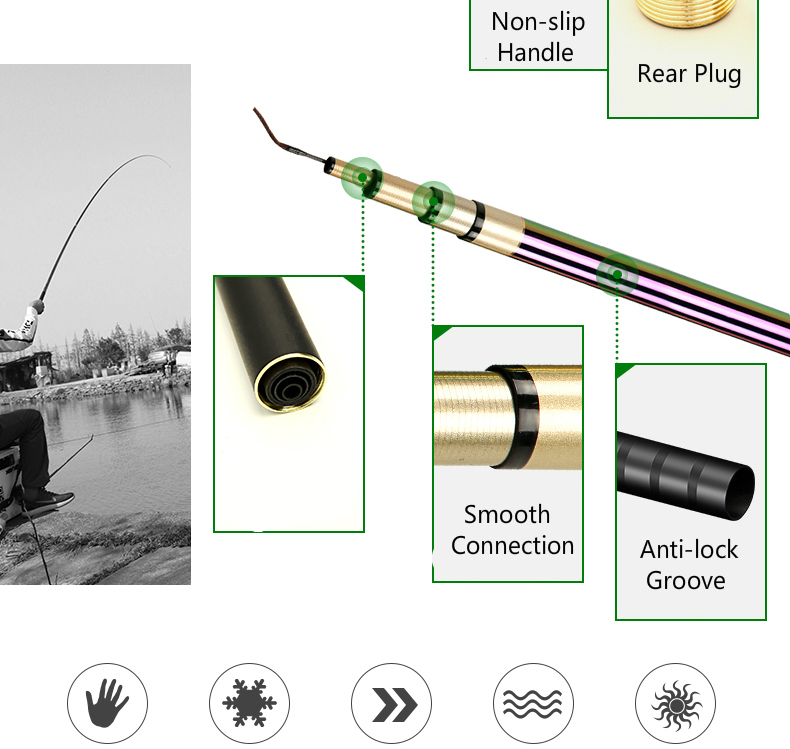 pit pólo de pesca alta carbono superhard