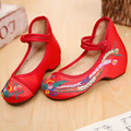 Girls Chinese Style Shoes Kids Fashion Casual Shoes Girls Chinese Embroidered Flats Children Soft Sole Cloth Dancing Shoes C170
