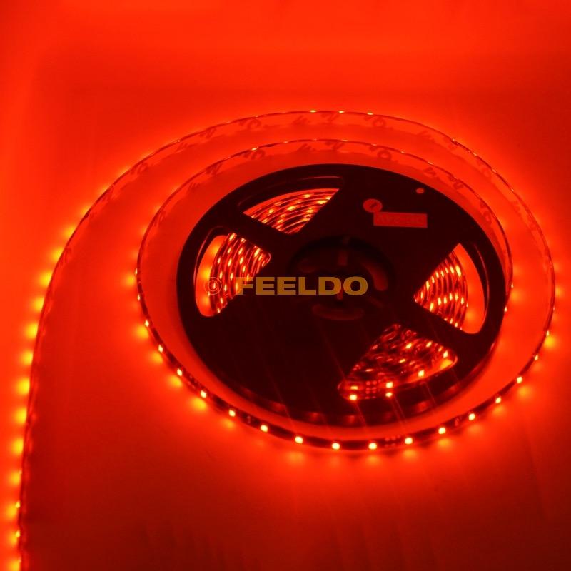 FEELDO 24V 500cm 5 метра 3528 1210 SMD 300 Leds - Автомобилни светлини - Снимка 3