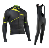 NW 2018 Pro team Cycling Jersey Clothes autumn Northwave men's long sleeve suit Breathable outdoor riding bike MTB clothing set