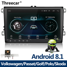 Nuovo 9 pollici Car Multimedia Player Android 8 GPS Auto radio 2 Din USB Per Volkswagen/VW/Passat /POLO/GOLF/Skoda/Seat/Leon Radio