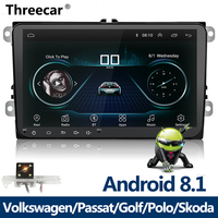 New 9 inch Car Multimedia Player Android 8 GPS Auto radio 2 Din USB For Volkswagen/VW/ Passat/POLO/GOLF/Skoda/Seat/Leon Radio