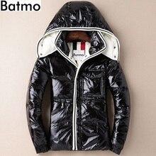 Фотография Batmo 2017 new arrival winter high quality white duck down Hat Detachable Coated fabric jacket men,waterproof men