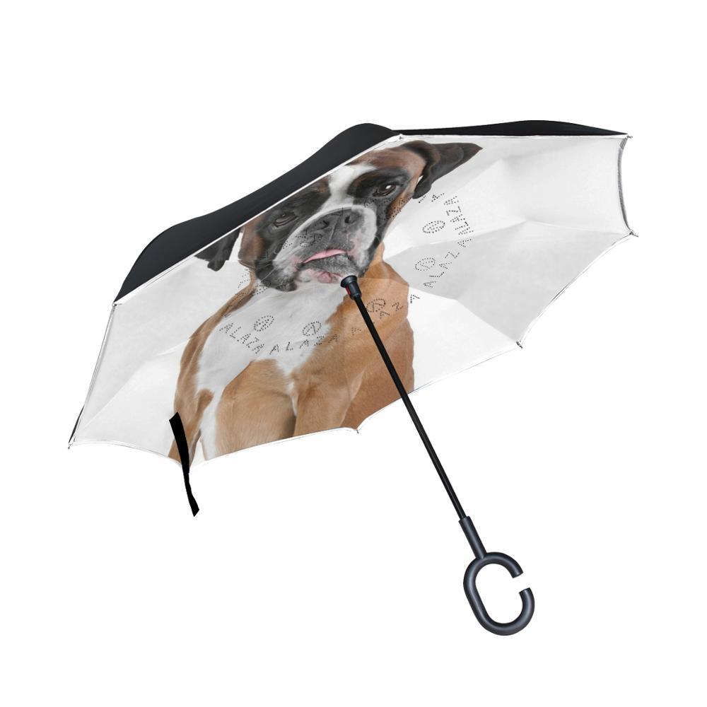 Susino pluie parapluies inversé parapluie Double couche soleil Parasol femmes inverse parapluies mâle coupe-vent voiture parapluies