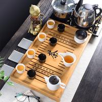 Chinese Traditions Bamboo Tea Tray Solid Bamboo Tea Board Kung Fu Tea Tools For Cup Teapot Crafts Tray Chinese Culture Tea Set
