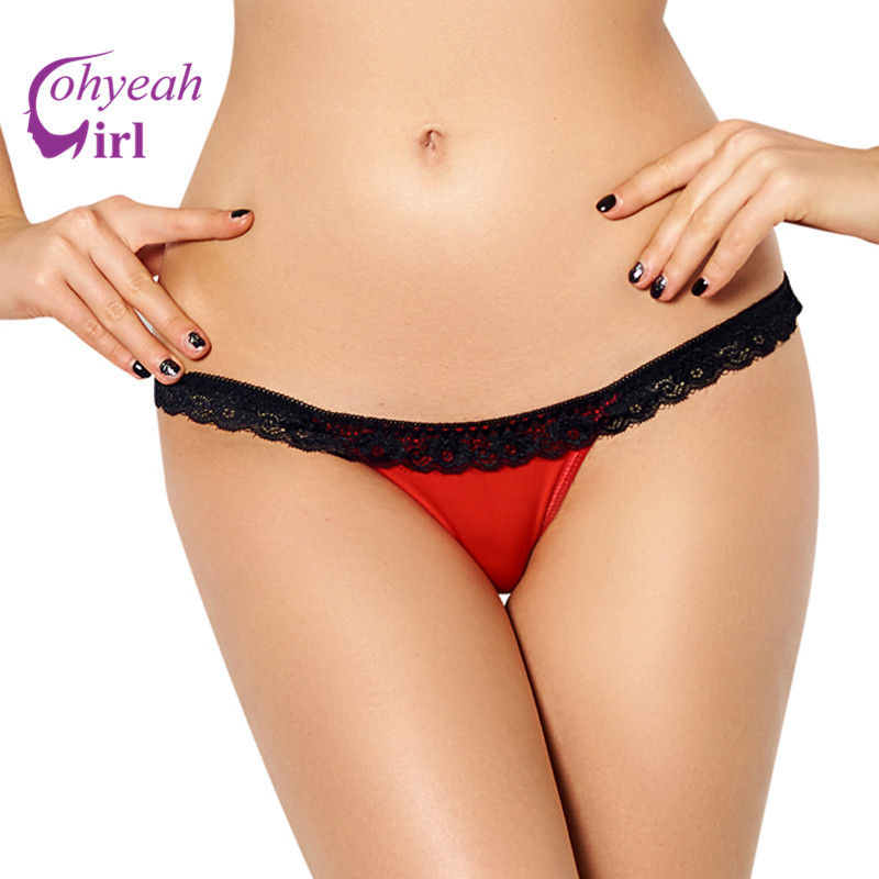 Women's panties hollow out hot lace trim sexy panties plus size panties mesh see through underwear for women PW5106