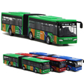 1:64 alloy pull back cars high simulation camouflage the appearance of double toy buses back function For Baby Toy