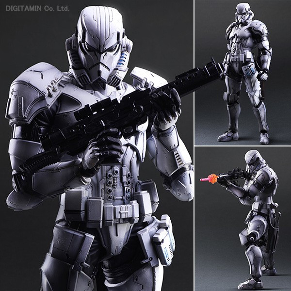 PlayArts KAI Star Wars Stormtrooper PVC Action Figure Collectible Model Toy 26cm star wars 7 playarts kai darth vader pvc action figure collectible model toy 27 5cm kt1689