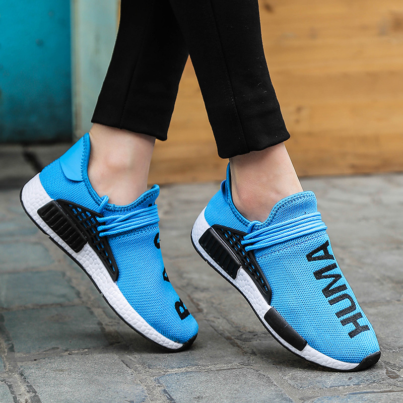 Flats-Sneakers Trainers Couples-Shoes Human-Race Breathable Light Plus-Size Soft Mesh