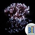 Controle remoto 164Ft 50 M 500LED Natal Levou Luzes Da Corda de Fio de Cobre de Fadas Estrelado Luzes Para Festas de Natal Decoração