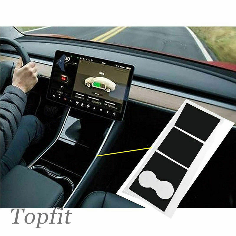 Image 5 - Vinyl Car Stickers Wraps Covers Set For Tesla Model 3 Auto Dashboard Accessory-in Automotive Interior Stickers from Automobiles & Motorcycles