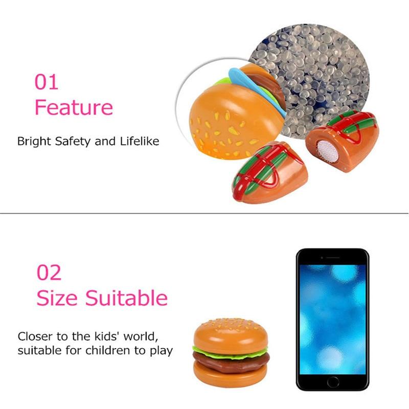 DIY Children's Kitchen Toys Kids Play House Plastic Toy Hamburg Bread Cakes&Hotdog Cake Food Toys set Early Education Kids Gifts (6)