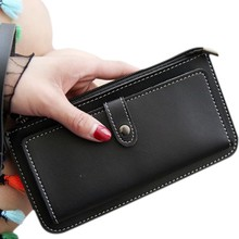 Wallet Women PU Leather Purses Zipper Hasp Long Wallet Retro Female Fashion Money Bag Card Holder Wallets
