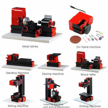 8 In 1 Mini Multipurpose Machine 12VDC 24W 2A  DIY Woodwork Model Making Tool Lathe Milling Kit 20000r/min - DISCOUNT ITEM  40% OFF All Category