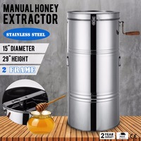 New Large Two 2 Frame Stainless Steel Honey Extractor