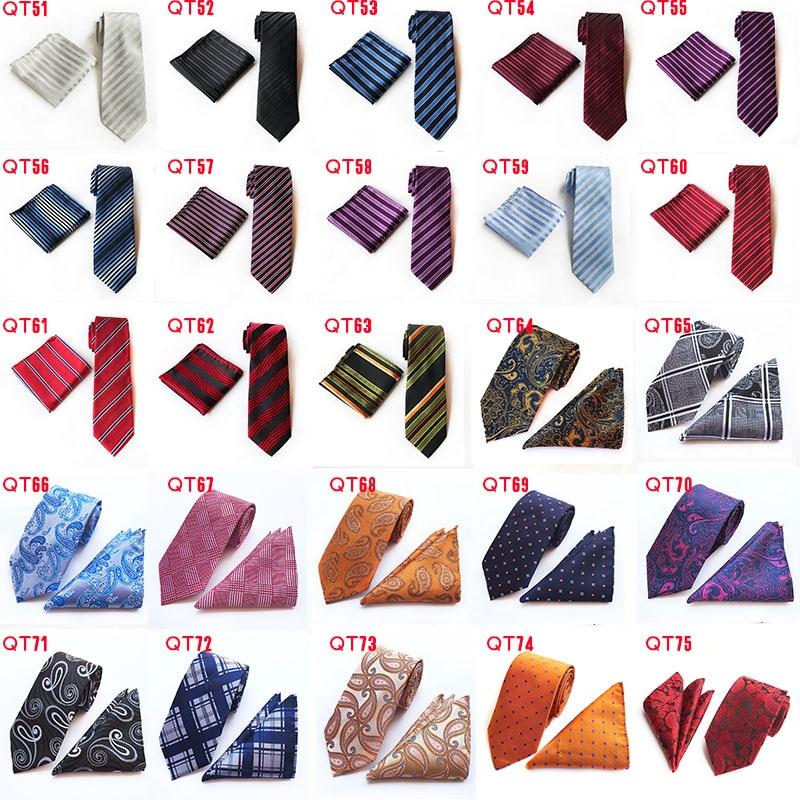 Модные геометрические формы бриллиантовый стиль Серебряный галстук Стразы запонки набор свадебный тонкий серебряный галстук для жениха г... - 5
