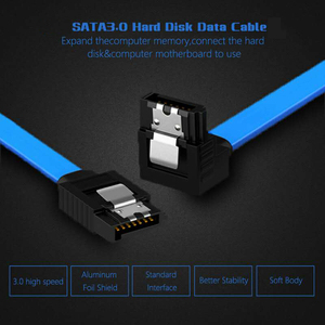 SATA Cable 3.0 to Hard Disk SSD adapter HDD cable Straight 90 Degree Sata 3.0 Cable for Asus MSI Gigabyte Motherboard Cable Sata