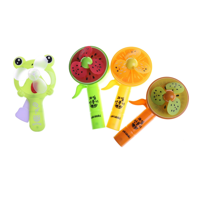 Portable Hand Press Cooling Cute Cartoon Toy Mini Handheld Fan Push-type Handheld Frog Fruit Fan