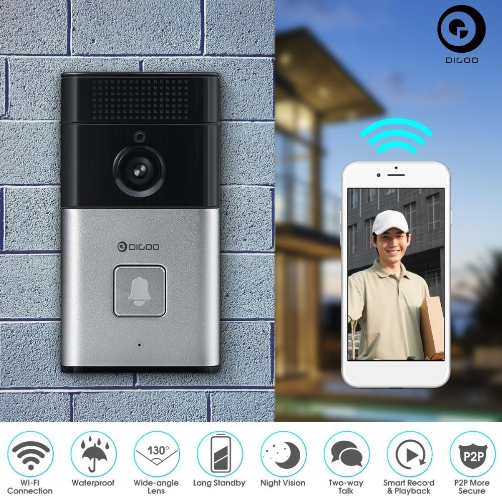 Upgraded Digoo SB-XYZ Wireless Bluetooth and WIFI Smart Home HD Video DoorBell Camera Phone Ring 2.8mm 720P 6M IR Night Version