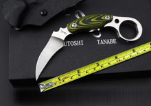 D2 Steel Karambit Best Quality Hunting Knife Micarta Handle Outdoor Tactical Knife Camp Fixed Blade Knives Survival Tools