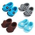 Clásico Primer Caminante Del Bebé Zapatos Hechos A Mano Del Ganchillo Del Bebé Zapatillas Calzado Recién Nacido Botines Botas 10 pairs Personalizados XZ016