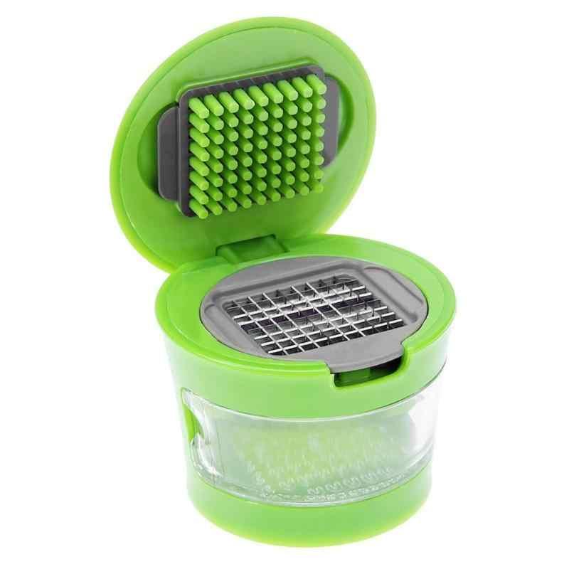 Mini Manual Bawang Putih Parutan Portable ABS Stainless Steel Bawang Alat Pengiris Tangan Presser Grinder Crusher Alat Dapur
