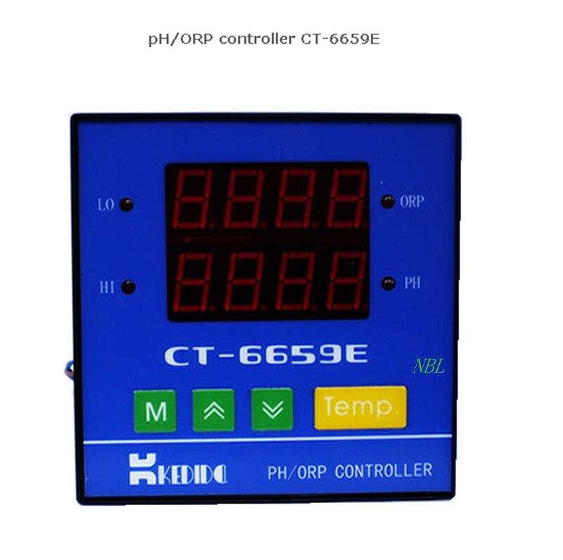 Nouveau contrôleur de pH de CT-6659E de ph-mètre de surveillance en ligne industriel intelligent d'instrument de PH avec le capteur de PH CT1001C et le câble de 10 M