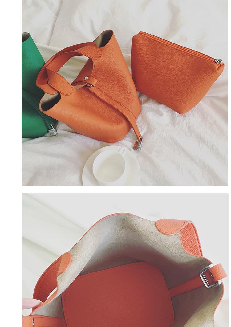 Moda nova cesta pacotes togo balde sacos