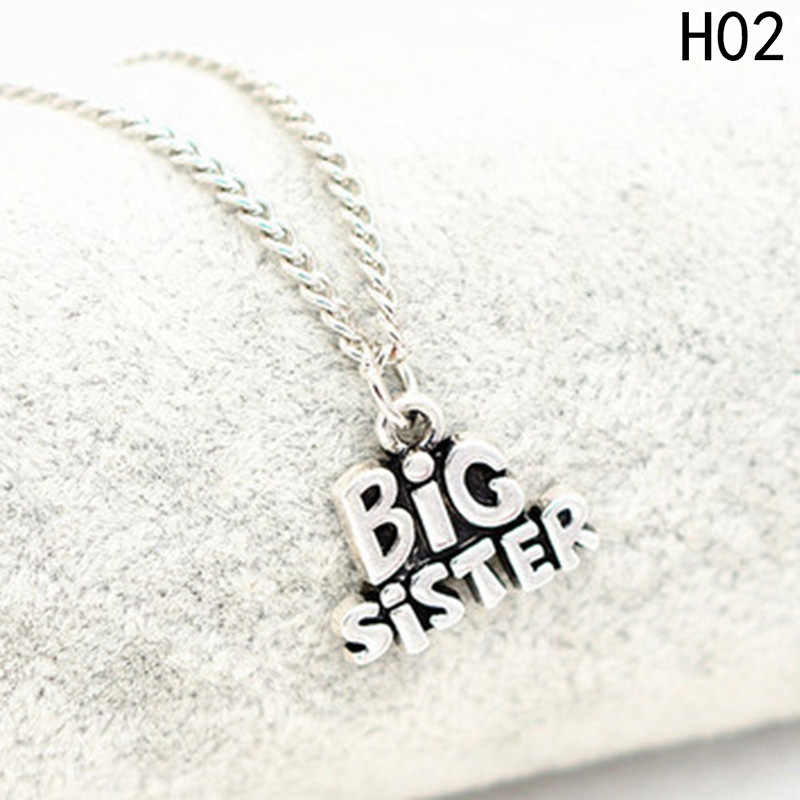 Jewelry Necklace Big Sister Little Sister Statement Floating Pendant Fashion Girl Necklace For Sister Gifts