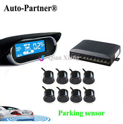 ФОТО Parking Sensors 8 Rear Front View Reverse Backup Radar Kit System Electronics Accessories+LCD Display Monitor For Toyota