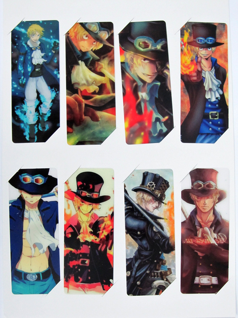 one piece bookmark sabo anime bookmarks study stationery 8 piecessets whole set of sale