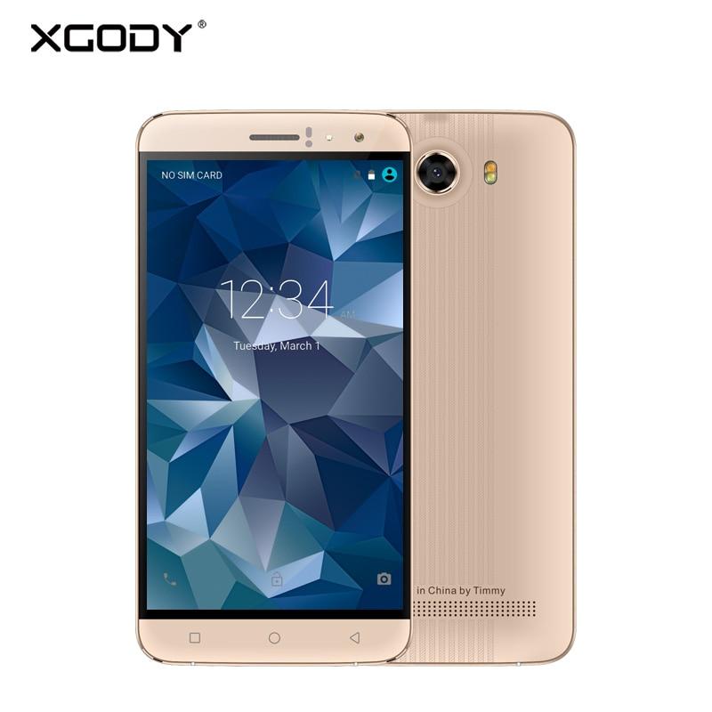 XGODY Y15 Smartphone 6 Inch 3G Dual Sim Card Android 5 1 MT6580 Quad Core 8G