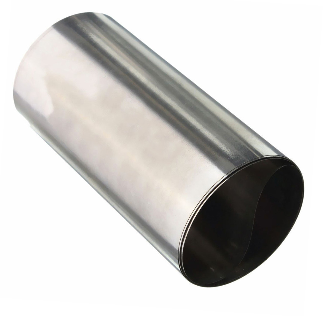 1pc Mayitr Silver 304 Stainless Steel Fine Plate Sheet Foil Roll 0.1mm*100mm*1000mm For Precision Machinery Maintenance