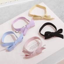 9 colors Solid Plain Color elastic rubber band women Girls Bow Hair Ties Elastic Bands Kids hair Accessories Fishion Headband(China)