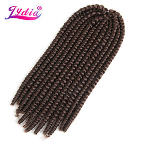 "Lydia For Women Synthetic Senegalese Twist Braiding Hair Extension 18""-24"" Havana Twist Crochet Latch Hook Box Braid Hair"