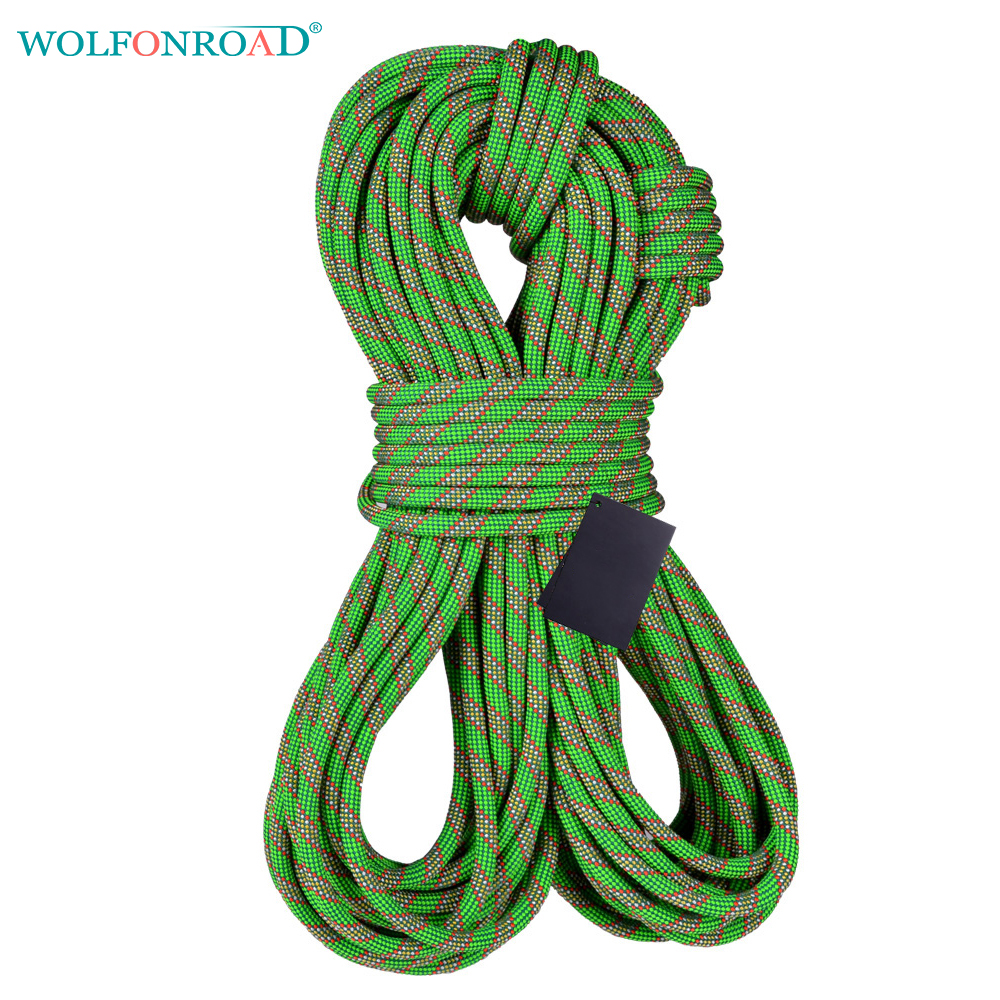 WOLFONROAD 10m lot Rock Climbing Dynamic Rope 9 8 11mm Dynamic Rope Durable Rappelling Rope Sport