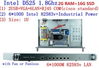 D525 1 8Ghz With Intel PCI E 1000M 6 82583v 1U Server Ros Hirouters Wayos For