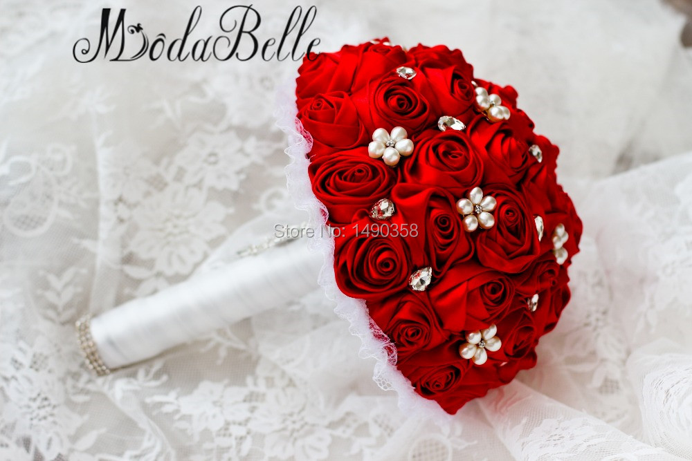 Free-shipping-Red-Rose-flower-bridal-brooch-bouquet-Wedding-Bride-s-Jewelry-crystal-Pearl-Rhinestone-Cloth (2)