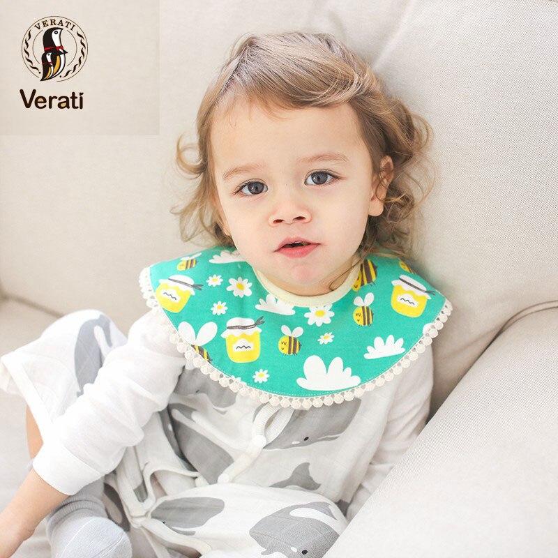 VERATI New 360-degree Rotating Petal Bibs Waterproof Bibs Baby Saliva Cotton Light Baby Bibs Baby Accessories Baby Stuff V087