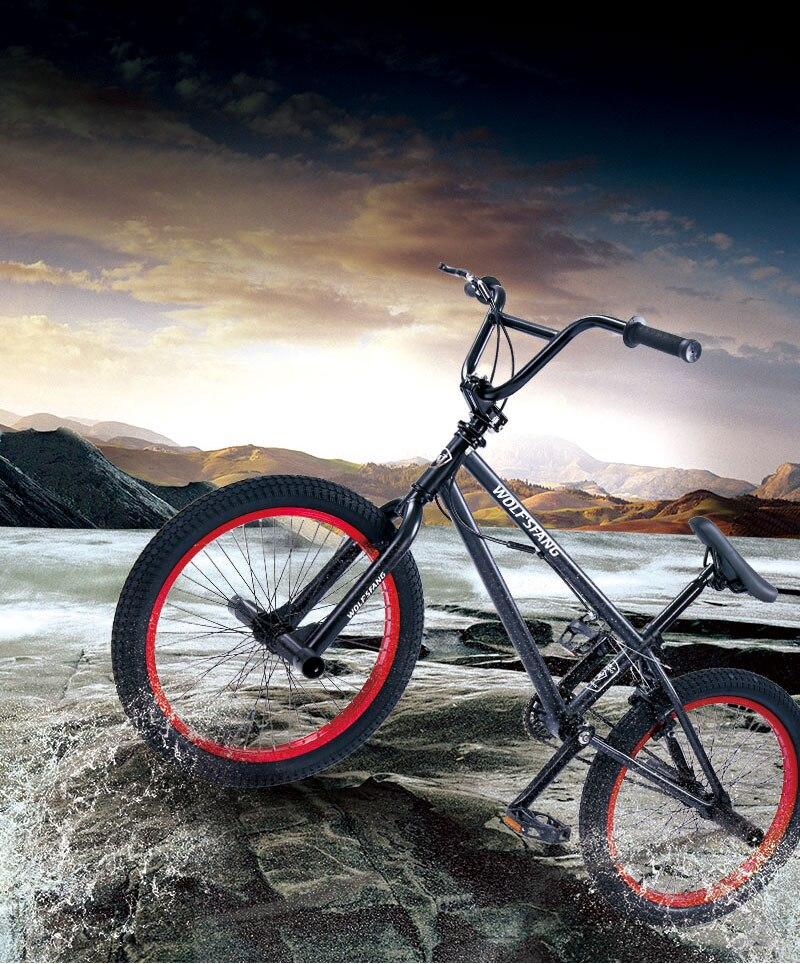 HTB1Kopkeq5s3KVjSZFNq6AD3FXaU Wolf's fang Bicycle bmx Mountain bike Road bikes mtb Bmx Bikes Front Caliper Brake Rear V Brake bicycles Free shipping