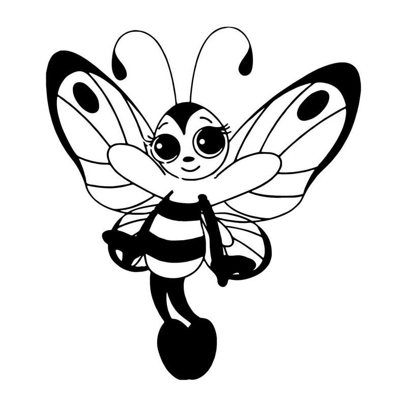 Butterfly Bee Sticker Decal Cartoon Vinyl Sticker Laptop Car Window