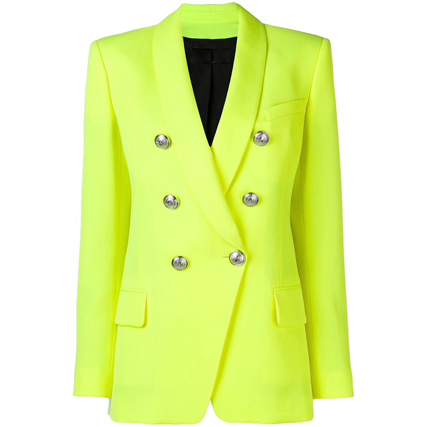 Europe And America Women's Double-breasted Blazer Coat Chic OL Jackets A499
