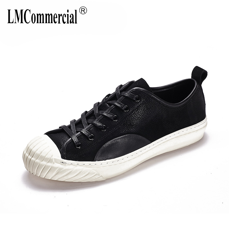 mens British retro all-match cowhide shoes breathable sneaker casual shoes youth Genuine Leather spring summer Leisure shoes