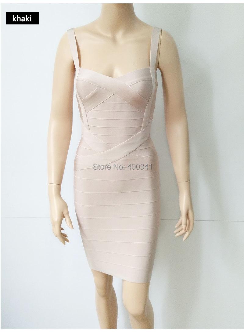 17 New Women Sexy Spaghetti Strap Rayon HL Elastic Celebrity Bandage Dress Bodycon Mini Club Party Dresses Drop Ship HL8675 16