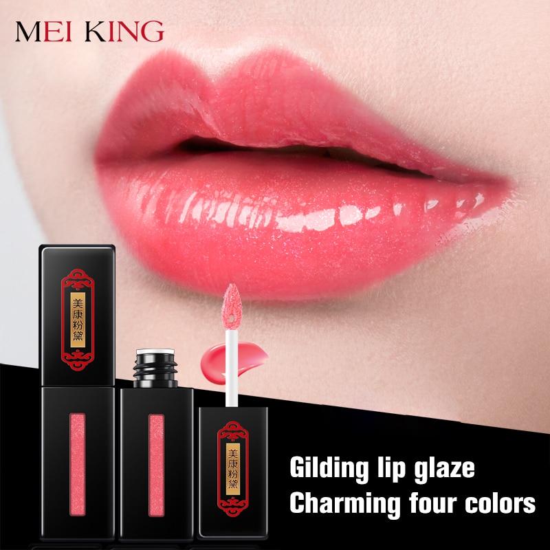 MEIKING Makeup Lip Gloss Glaze Glitter Lipstick Maquiagem Batom Moisturizer Waterproof Liquid Lipstick Makeup Cosmetics Lip Balm