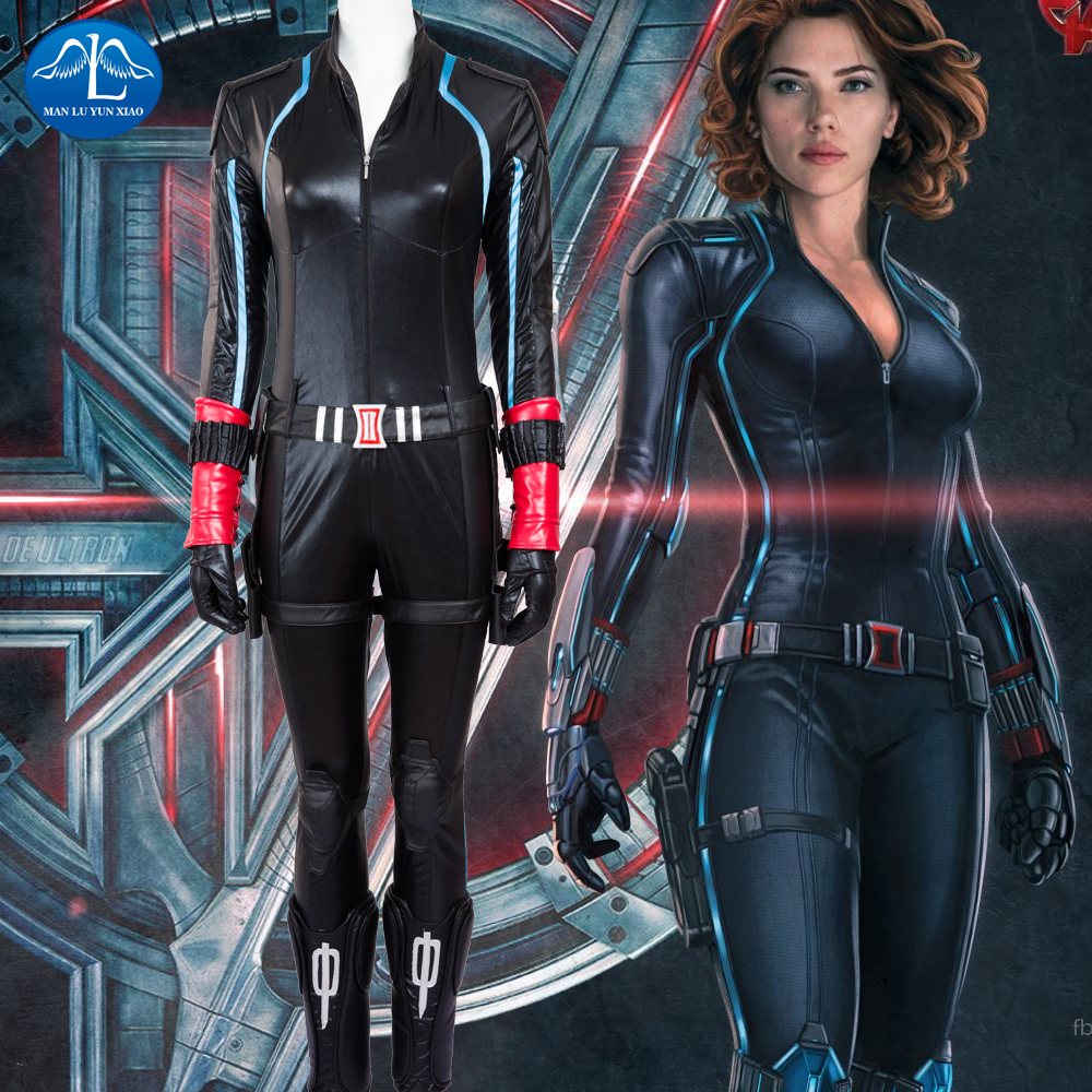 MANLUYUNXIAO The Avengers: Age of Ultron Black Widow Costume Natasha Romanoff Cosplay Costume Women Full Set