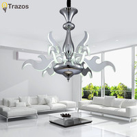 Modern Art LED Chandeliers Mirror Finish Laser engraving acrylic living Room Bar Hanging Lamp LED Chandelier Lustres