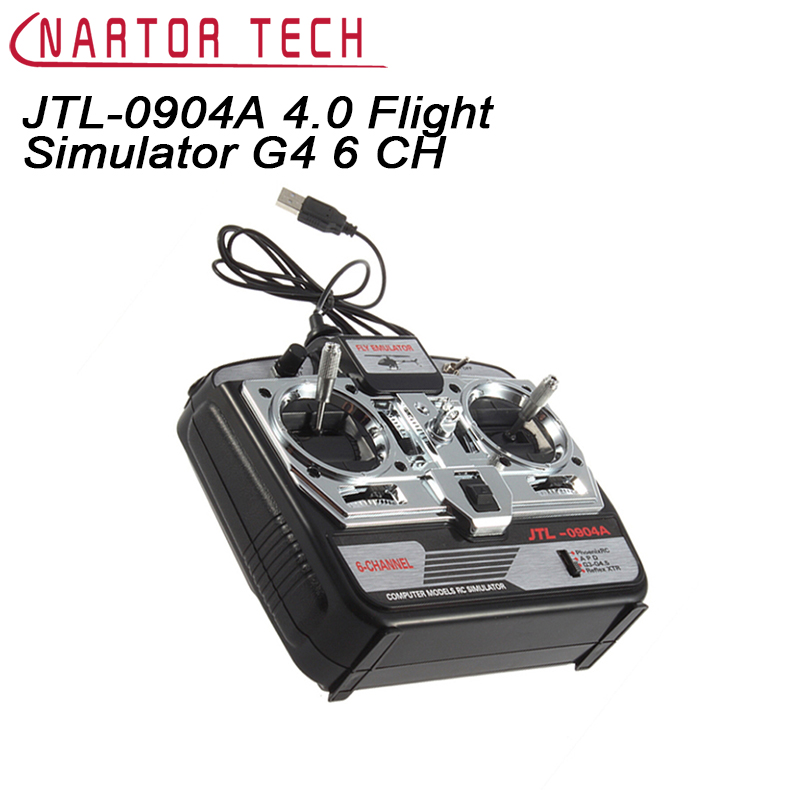 Nartor Free Shipping JTL-0904A 4.0 Flight Simulator G4 6 CH XTR RC Airplane CD for Helicopter Mode 2 phoenix 14 in 1 flight simulator support g5 5 g4 phoenix 4 0 3 0 xtr and so on