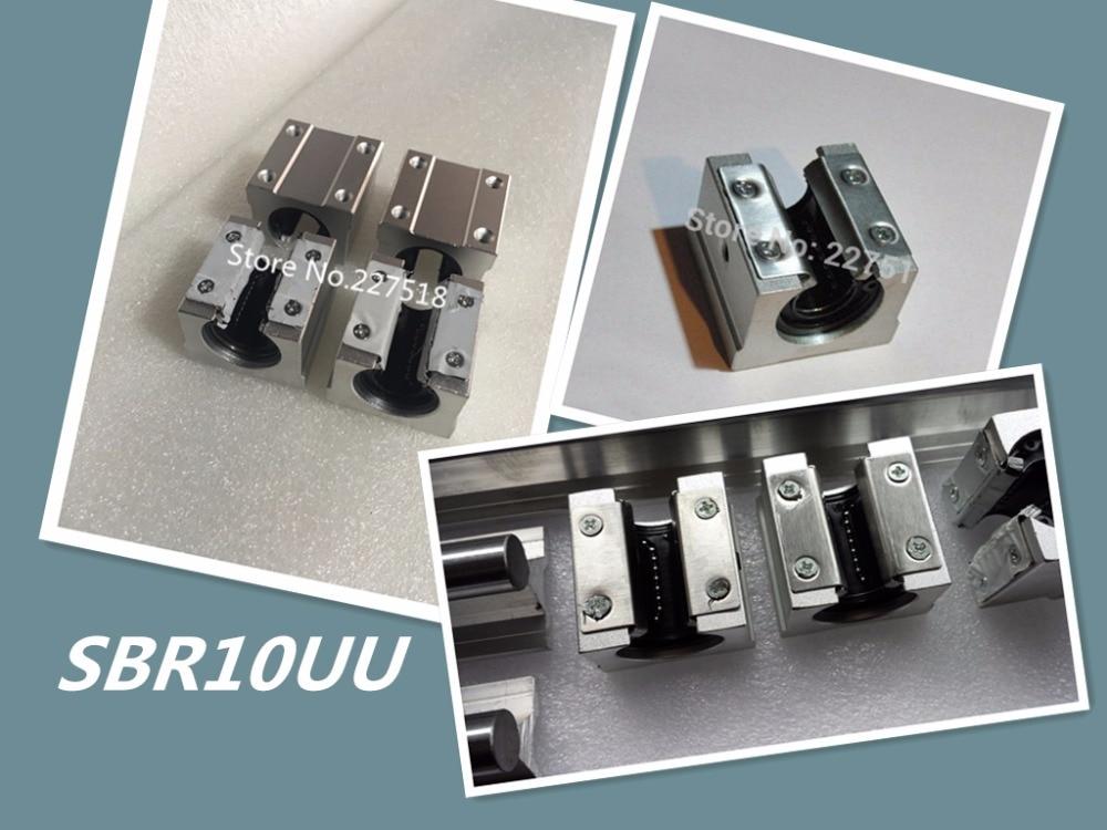 1pcs SBR10UU 10mm aluminum block 10mm Linear motion ball bearing slide block match use SBR10 10mm linear guide rail 1pc sbr10 l300mm linear guide 2pcs sbr10 linear bearing block