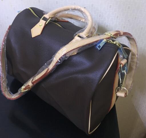 Hot selling !!! 2017 new fashion high quality women handbag bag speedy bag 30/35cm with starp FREE SHIPPING hot selling 2017 new fashion 1 1 quality genuine leather women handbag speedy bag 30 35cm with starp free shipping